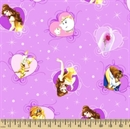 Picture of Disney Beauty and the Beast Belle with Film Hearts Cotton Fabric