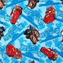 Picture of Disney Cars Don't Let Frank Catch Ya Tow Truck Blue Cotton Fabric