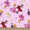 Picture of Disney Princess Sleeping Beauty Character Toss Pink Cotton Fabric