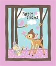 Picture of Disney Bambi Woodland Dreams Large Cotton Fabric Panel