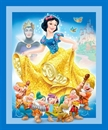 Picture of Disney Snow White, 7 Dwarfs and Evil Queen Large Cotton Fabric Panel