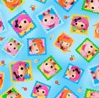Picture of Cute As A Button Lalaloopsy Tossed Doll Blocks Blue Cotton Fabric