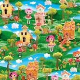 Picture of Cute As A Button Lalaloopsy Girl Decorated House Scene Cotton Fabric