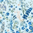 Picture of Harper New York Botanical Gardens Wild Flowers Blue Cotton Fabric