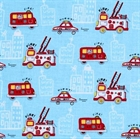 Picture of Rescuers Fire Trucks Rescue Emergency Fire Department Cotton Fabric