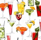 Picture of Cheers Cocktails Large Martini, Bloody Mary, Mimosa Cotton Fabric