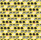 Picture of Geekly Chic Retro Polaroid Cameras on Yellow Cotton Fabric