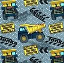 Picture of Tonka Diamond Plate Toss Construction Trucks Cotton Fabric