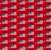 Picture of Made in the U.S.A. Patriotic Flags and Stars on Red Cotton Fabric