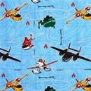 Picture of Disney Planes Fire and Rescue Dusty and Friends Cotton Fabric