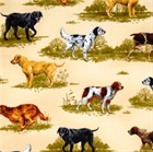 Picture of Flannel Nature Studies Hunting Dogs Pointers Retrievers Cotton Fabric