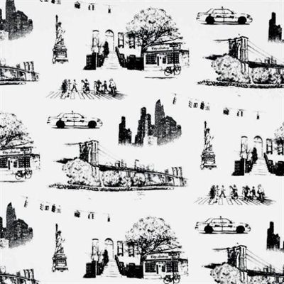 cotton fabric travel fabric urban toile canvas new york city scenes nyc thick cotton fabric. Black Bedroom Furniture Sets. Home Design Ideas