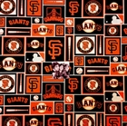 Picture of MLB Baseball San Francisco Giants Black Squares 18x29 Cotton Fabric