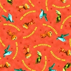 Picture of Buddys Big Adventure Dinosaur Train Characters on Coral Cotton Fabric