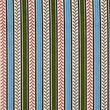 Picture of Big Red Int Harvester Tire Tread Blue and Green Stripe Cotton Fabric