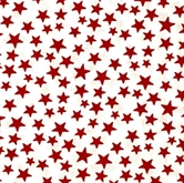 Picture of Made in the U.S.A. Patriotic Red Stars on White Cotton Fabric