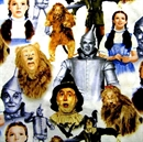 Picture of Wizard of Oz Dorothy, Tin Man, Scarecrow and Lion Cotton Fabric