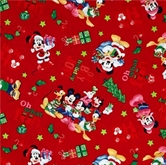 Picture of Disney Mickey Mouse Ho Ho Joy Christmas Holiday Cotton Fabric