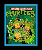 Picture of TMNT Retro Teenage Mutant Ninja Turtles Blue Frame Large Fabric Panel