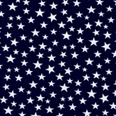 Picture of Made in the U.S.A. Patriotic White Stars on Navy Blue Cotton Fabric