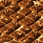 Picture of In the Mix Chocolate Brownies With Walnuts Cotton Fabric