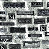 Picture of New York State of Mind Subway Signs and Map Cotton Fabric
