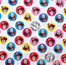 Picture of Where's Waldo? At the Beach Tiny Faces on Circles Cotton Fabric