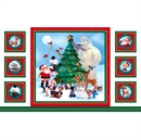 Picture of Rudolph the Red-Nosed Reindeer and Friends 24x44 Large Fabric Panel