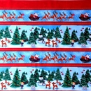 Picture of Rudolph the Red-Nosed Reindeer and Friends Stripe Cotton Fabric
