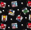 Picture of Kawaii Characters Superhero Badge Cute Marvel Cotton Fabric