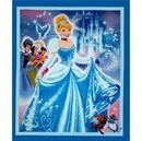 Picture of Disney Princess Cinderella Blue Large Cotton Fabric Panel