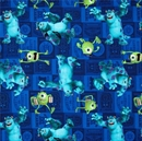 Picture of Disney Pixar Monsters Inc Mike and Sully Character Toss Cotton Fabric