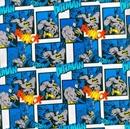 Picture of Batman Twack Action Squares Cotton Fabric