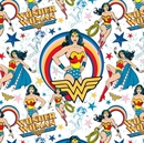 Picture of Flannel Girl Power Wonder Woman Stars Cotton Flannel Fabric
