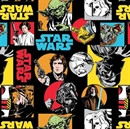 Picture of Star Wars The Dark Side Characters Circles and Squares Cotton Fabric
