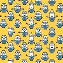 Picture of Despicable Me 1 In A Minion Blue Minions on Yellow Cotton Fabric