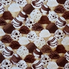 Picture of Brain Freeze Ice Cream Cones Vanilla and Chocolate Cotton Fabric