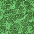 Picture of Victorian Dream Steam Punk Clock Gears Green Cotton Fabric