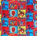 Picture of Amazing Spiderman in Squares Marvel Comics Cotton Fabric