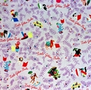 Picture of Little Golden Books Classics Character Toss Purple Cotton Fabric