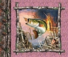 Picture of Realtree Hunting Pink Fish Fishing Cotton Fabric Pillow Panel