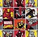 Picture of Marvel Immortals Spiderman Thor Captain America Block Cotton Fabric