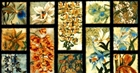 Picture of Oriental Traditions Orchid with Blue 24x44 Large Cotton Fabric Panel