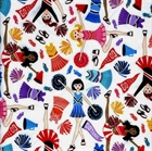 Picture of Cheerleaders Cheering Bring It On Go Team Cotton Fabric