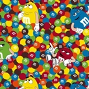 Picture of M and M Friends Candy and Character Toss Cotton Fabric