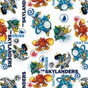 Picture of Skylanders Video Game Characters Bring to Life White Cotton Fabric