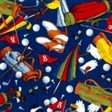 Picture of Art of Golf Golfing Equipment Toss Blue Cotton Fabric