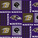 Picture of NFL Football Baltimore Ravens Squares 18x29 Cotton Fabric