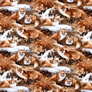 Picture of Wild Wings Foxcroft Scenic Foxes Packed Fox Cotton Fabric