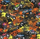 Picture of Extreme Sports Monster Trucks Beast Blaster Wild One Cotton Fabric